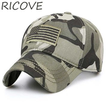 USA Flag Camouflage Trucker Cap Snapback Baseball Caps Men Army Tactical Dad Hat Embroidery Hats For Women Summer New Adjustable