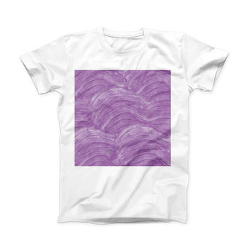 The Purple Brush Strokes ink-Fuzed Front Spot Graphic Unisex Soft-Fitted Tee Shirt