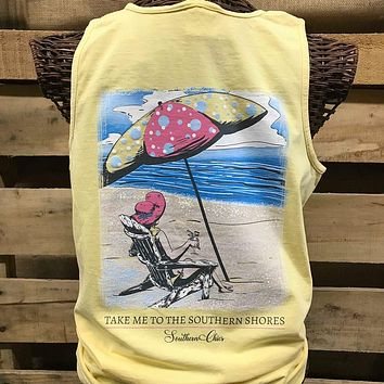 Southern Chics Apparel Take Me to the Southern Shores Beach Comfort Colors Girlie Bright T Shirt Tank Top
