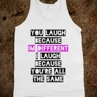 I'm Different-Unisex White Tank