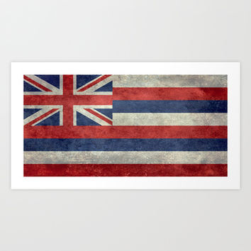 The State flag of Hawaii - Vintage version Art Print by Bruce Stanfield