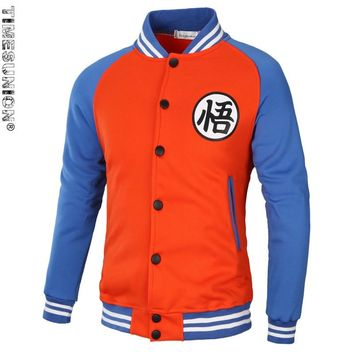Brand Dragon Ball Z Hoodie Sweatshirt Cosplay Jackets Men hoodie Goku Kame Symbol Varsity Baseball Jacket Men Tracksuits 3XL