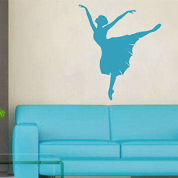kik2272 Wall Decal Sticker ballerina dance ballet pas pirouette girl living room bedroom