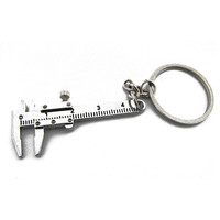 2017 New Metal Movable Vernier Caliper Ruler Keychain