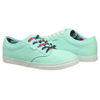 Athletics Vans Women's Atwood Lo Mint/ Floral Lace FamousFootwear.com