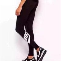 "2016 Trending Fashion ""Nike"" Letter Printed Leggings Cotton Slim Fit Sport Suit Fitness Sportswear Stretch Exercise Yoga Trousers Pants"
