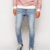 River Island Skinny Sid Jeans in Light Wash