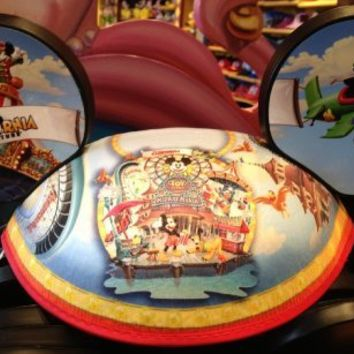 "Disney/California Adventure Story ""Midway Mania"" Mickey Ears Hat - Disney Parks Exclusive & Limited Availability"