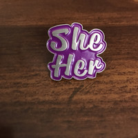 She/Her Lapel Pin