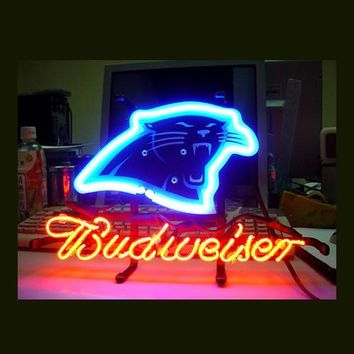 """Business NEON SIGN board For  CAROLINA PANTHERS Football  Basketball Real GLASS Tube BEER BAR PUB Club Shop Light Signs 17*14"""""""