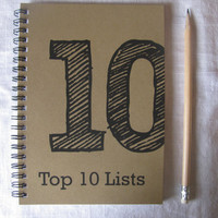 Top 10 Lists-  5 x 7 journal