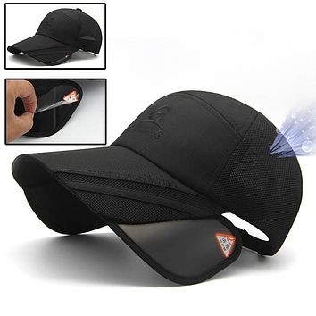 Adjustable Breathable Mesh Outdoor Mountain Hat with Sunshades