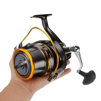 12+1BB 13Ball Bearings Left/Right Interchangeable LJ9000 Super Big Sea Fishing Wheel Metal Spinning Reel High Speed 4.11:1