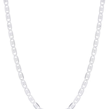 """Silver Reversible Valentino Chain Necklace - 18"""" & 20"""" Available"""