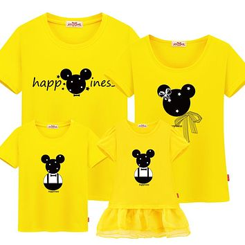 Family Outfit Clothing Mickey Mouse Summer Yellow Shirt