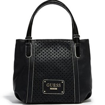 Agolo Large Perforated Satchel at Guess