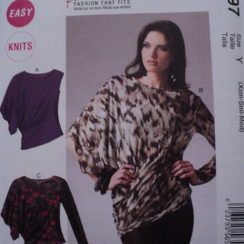 McCalls 6797 Misses Palmer Pletsch Tops Sewing Pattern Sz Xsm to Med