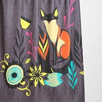 Sarah Watts For DENY Sly Fox Shower Curtain - Urban Outfitters