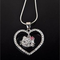 Hello Kitty Heart Pendant Necklace