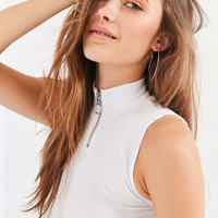 UO Danica Half-Zip Ribbed Tank Top | Urban Outfitters