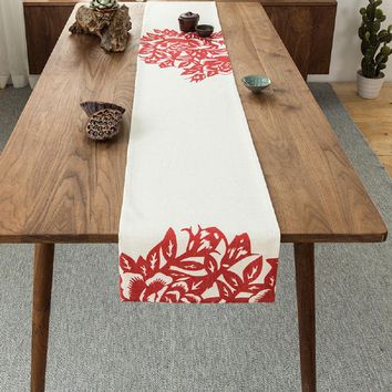 Chinese Red Table Runner