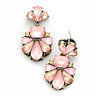 Marina Statement Earrings - Rose Quartz