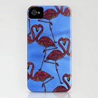 Flamingos iPhone Case by Ben Geiger | Society6