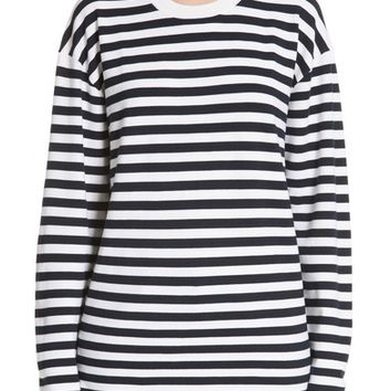 Burberry Passirio Breton Stripe Merino Wool Blend Top | Nordstrom