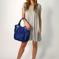 Tess T-Shirt Dress: Heather Grey