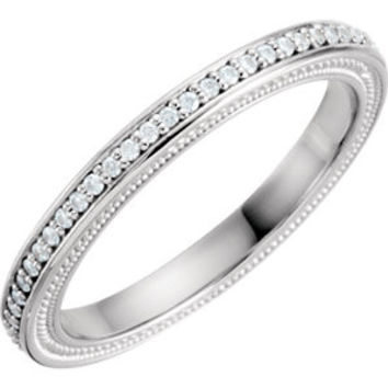 14K White Cubic Zirconia & 3/8 CTW Diamond Sculptural-Inspired Engagement Ring Size 7