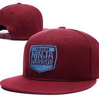 HAIHONG American Ninja Warrior Logo Adjustable Snapback Caps Embroidery Hats - Red