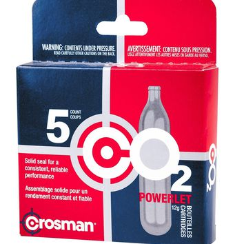 Crosman 12 Gram CO2 Cartridges 5 Count