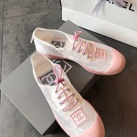 Chanel Fashion Lace Splicing Casual Sneaker