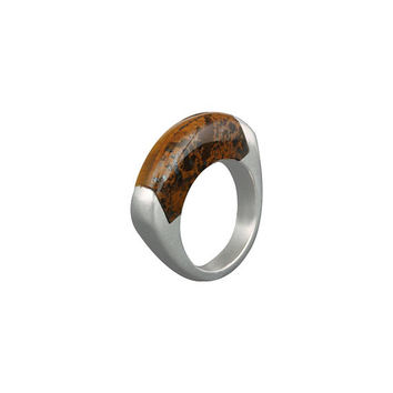Sterling Silver Ring, Brown Stone Ring, Tiger Eye Ring, Band Ring, Gemstone Ring, Rings for Women, Valentines Day Gift,Gift for Her