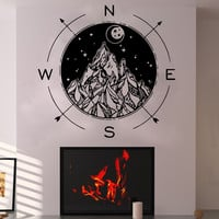 Compass Rose Wall Decal Nursery Wall Decor Home Art Nautical Vinyl Sticker SM180