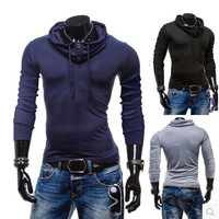 Slim Casual Long Sleeve Tee Pullover Men T-shirts = 6458559107