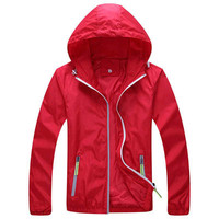 Men Windbreaker Skin Coat