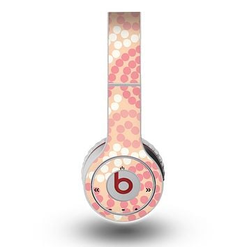 The Pink Spiral Polka Dots Skin for the Original Beats by Dre Wireless Headphones