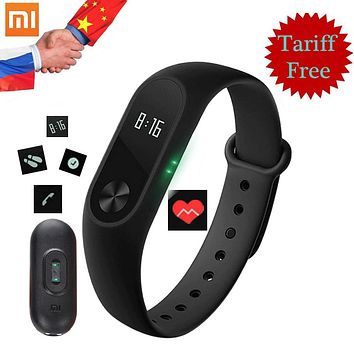 Smart Bracelet Xiaomi Mi Band 2 Original Smart Wristband Fitness Tracker OLED Screen Heart Rate Monitor Mi Band 2 Clock in Stock