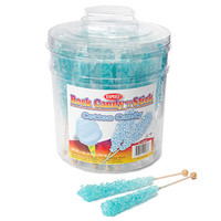 Rock Candy Crystal Sticks - Light Blue: 36-Piece Tub