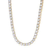 Sterling Silver 5mm Tennis Chain in Gold