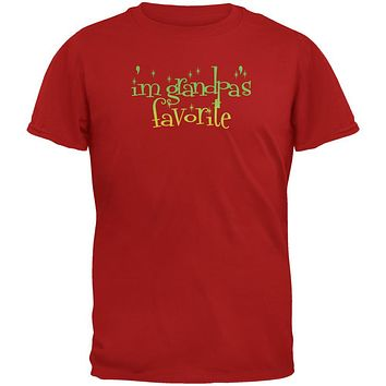 Christmas I'm Grandpa's Favorite Red Youth T-Shirt