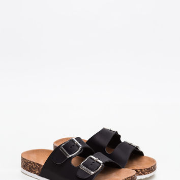 Buckle Down Faux Leather Sandals GoJane.com