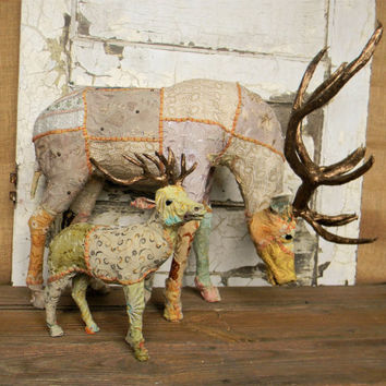 Faux Taxidermy,Upholstered Taxidermy,Faux Deer,Fabric Covered Deer,Upholstered Faux Taxidermy, Upholstered Deer,Unique Faux Taxidermy