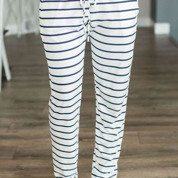LMFVA6 Striped Joggers