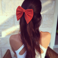 Orange Unique BIG hair bow