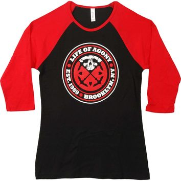 Life Of Agony  Est. 1989 Junior Top Red/Black