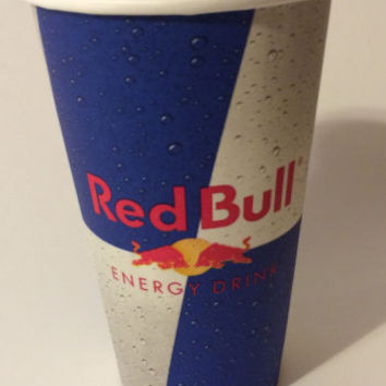 """Lot of 50 Red Bull Paper Cups 5"""" Tall Energy Party Supplies Paper Products New"""