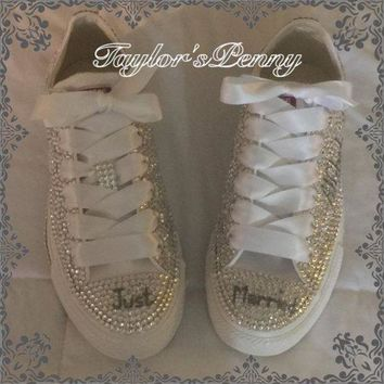ICIKGQ8 bling converse sneakers embellished