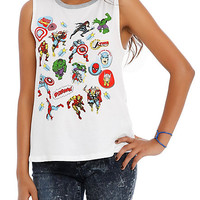 Marvel Heroes Sticker Girls Muscle Top